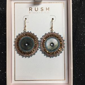 NIB RUSH By Denis & Charles Mother Pearl Earrings